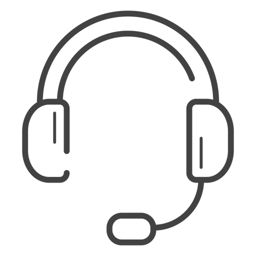Gaming clipart gaming headphone. Headset stroke icon transparent
