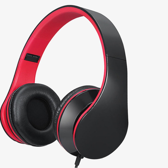 Gaming clipart gaming headphone. Red and black headphones