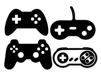 Gaming clipart silhouette. Game controllers svg dxf