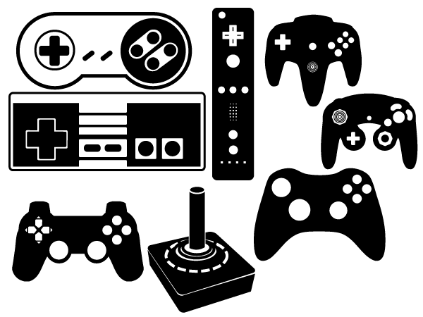 Gaming clipart silhouette. Playstation controller google search