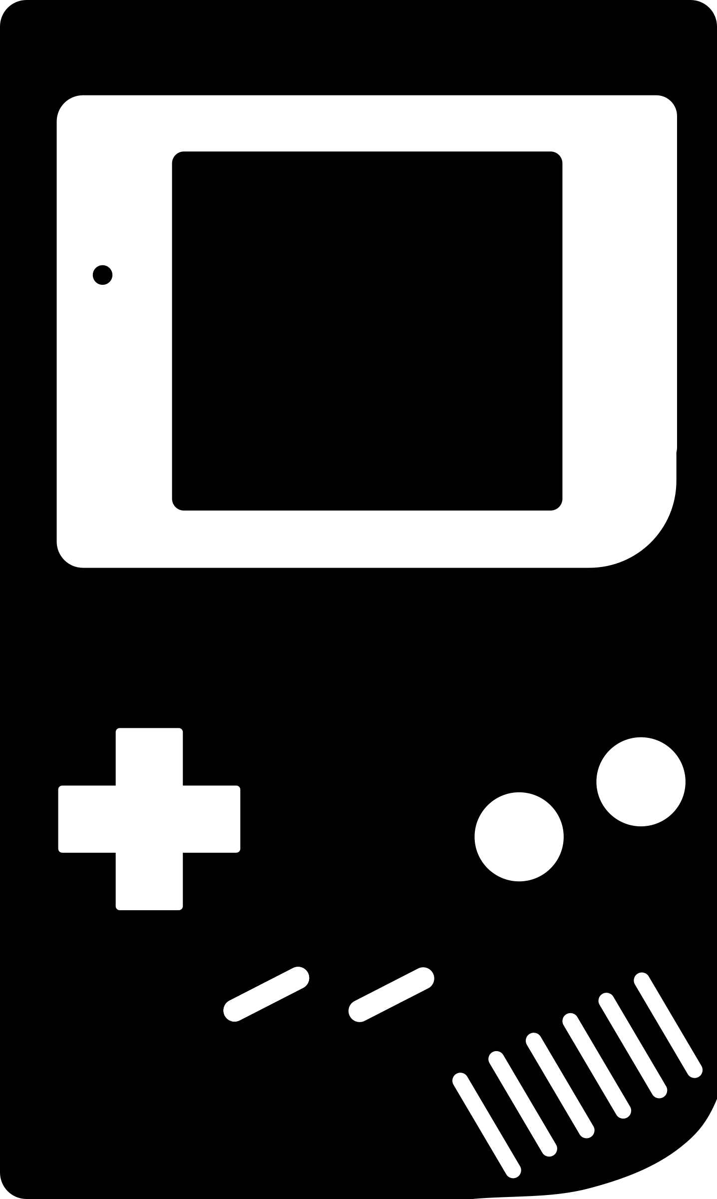 Gaming clipart silhouette. Gameboy big image png