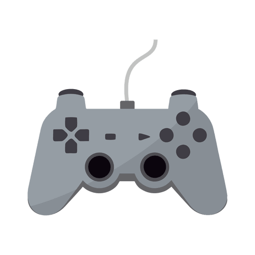 Gaming controller icon png. Flat transparent svg vector