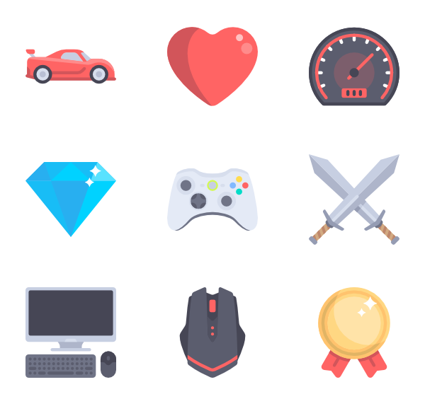 game controller packs. Games icon png png black and white stock