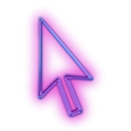 Gaming cursor png. Glowing purple neon roblox