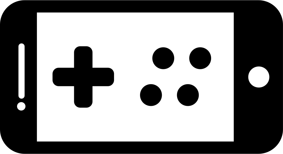 Gaming png icons. Mobile game svg icon