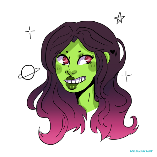Gamora drawing. Space gal forfansbyfans t