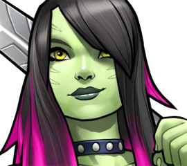 Gamora drawing face. Found on google from