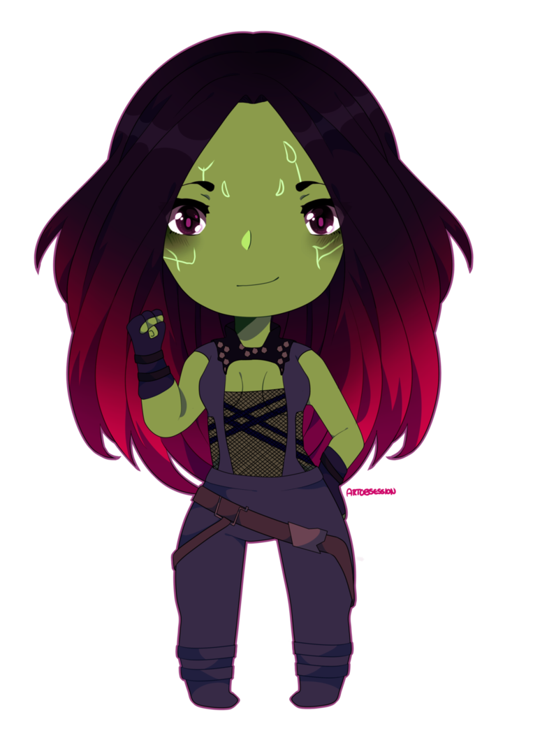 Gamora drawing easy. Chibi speedpaint by adorablemangolover
