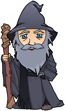 Gandalf transparent clip art. Fantasma chibi png buscar