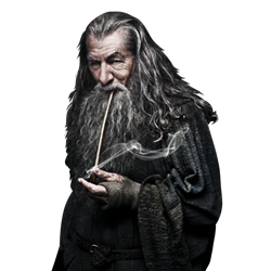 Gandalf transparent the hobbit. Pipes wooden and lotr