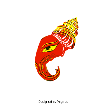 Ganesh vector wedding card. Ganesha png vectors psd