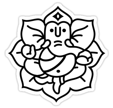 Ganesh vector line drawing. Outline at getdrawings com