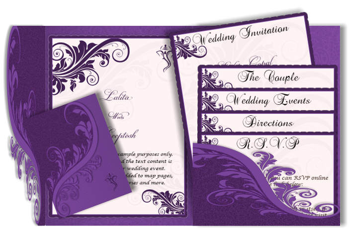 Ganesh vector wedding card. Email pocket fold design