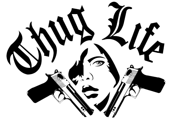 Gangsta drawing gangster life. Thug stickers png