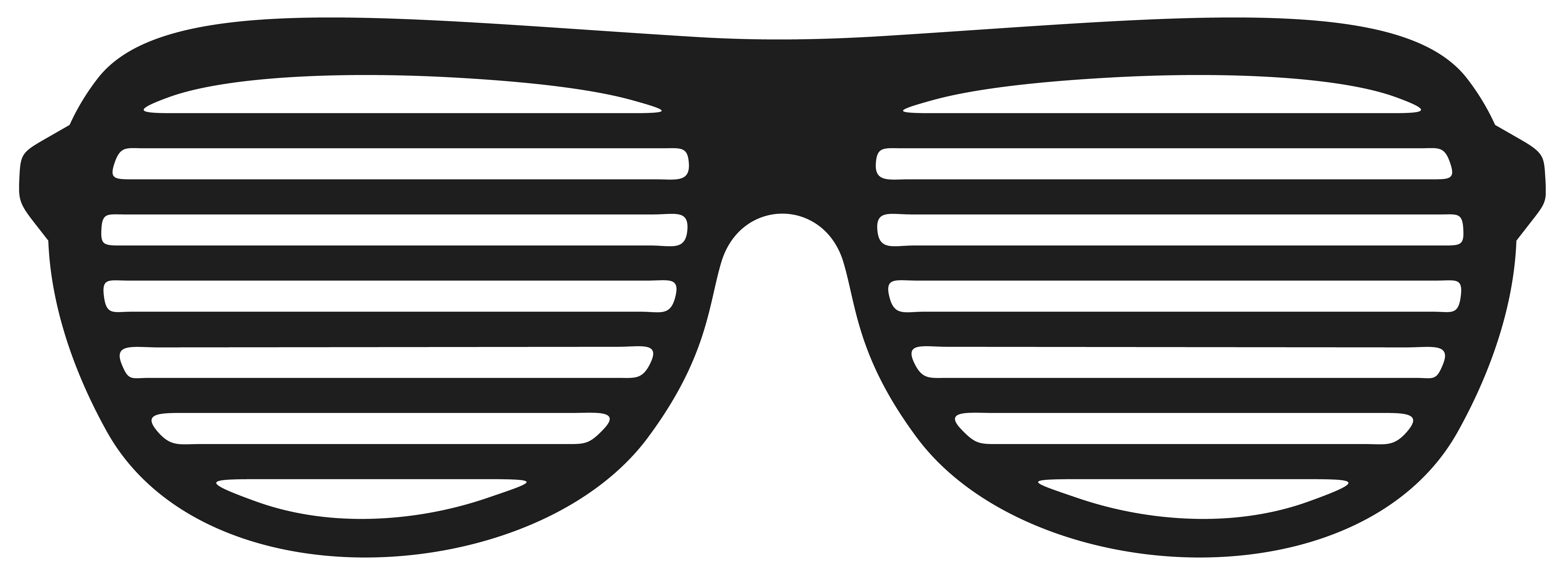 80's vector party sunglasses. Movember shutter glasses png