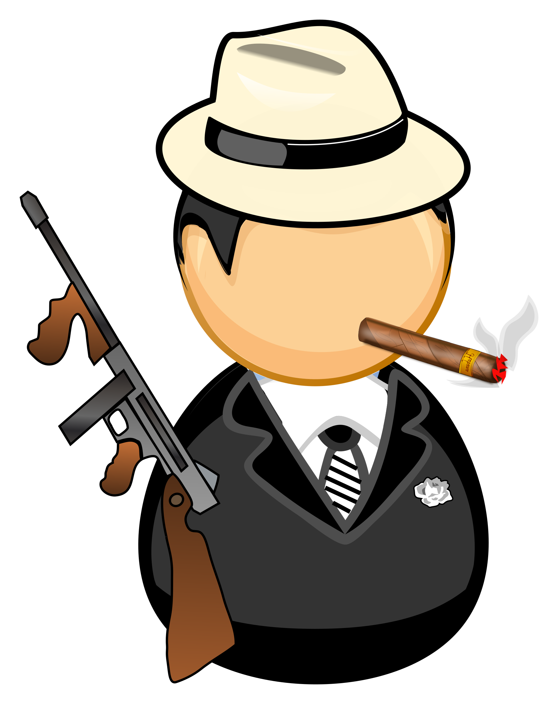 Gangster vector png. Icons free and downloads
