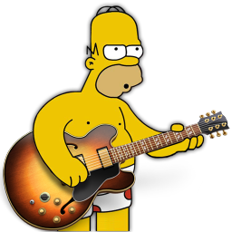 Garage band png. Homer icon simpsons iconset