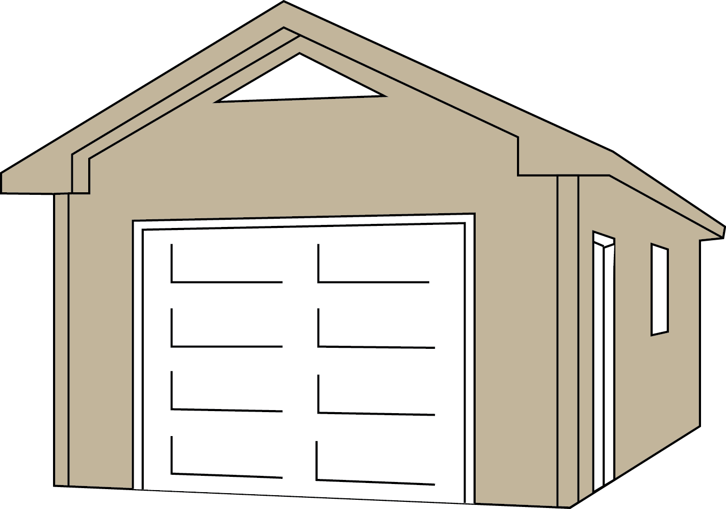 shack drawing wooden