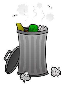 Garbage clipart bad smell. Drawing cartoon trash