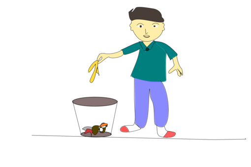 Garbage clipart boy. Spring cleaning waste city