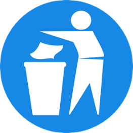 Recycle clipart proper throwing garbage. How to properly dispose