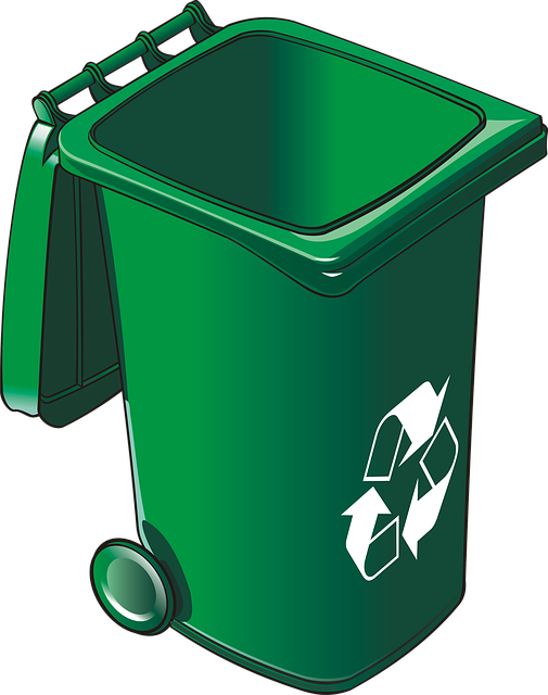 Garbage drawing plastic waste. Free photo bins cans