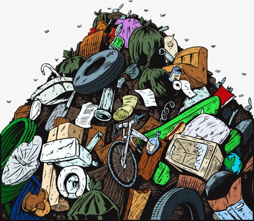 Garbage clipart garbage heap. Rubbish pollution dirty png