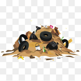 Garbage clipart garbage heap. Png images vectors and