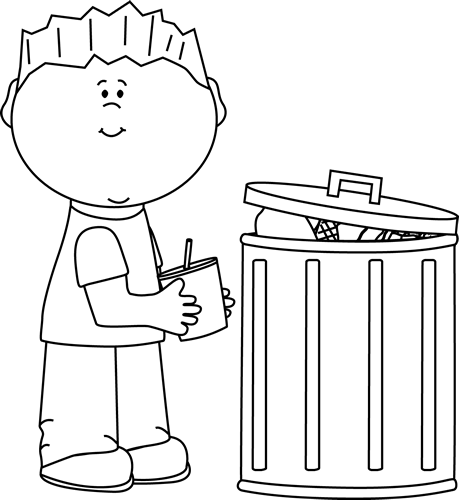 Garbage drawing messy. Trashcan clipart pickup