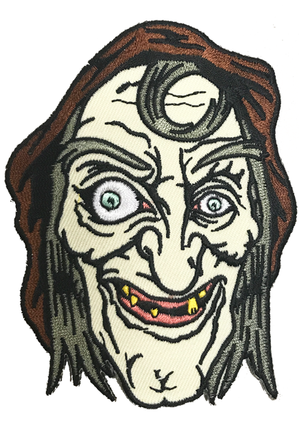 Drawing witch hag. Sea patch