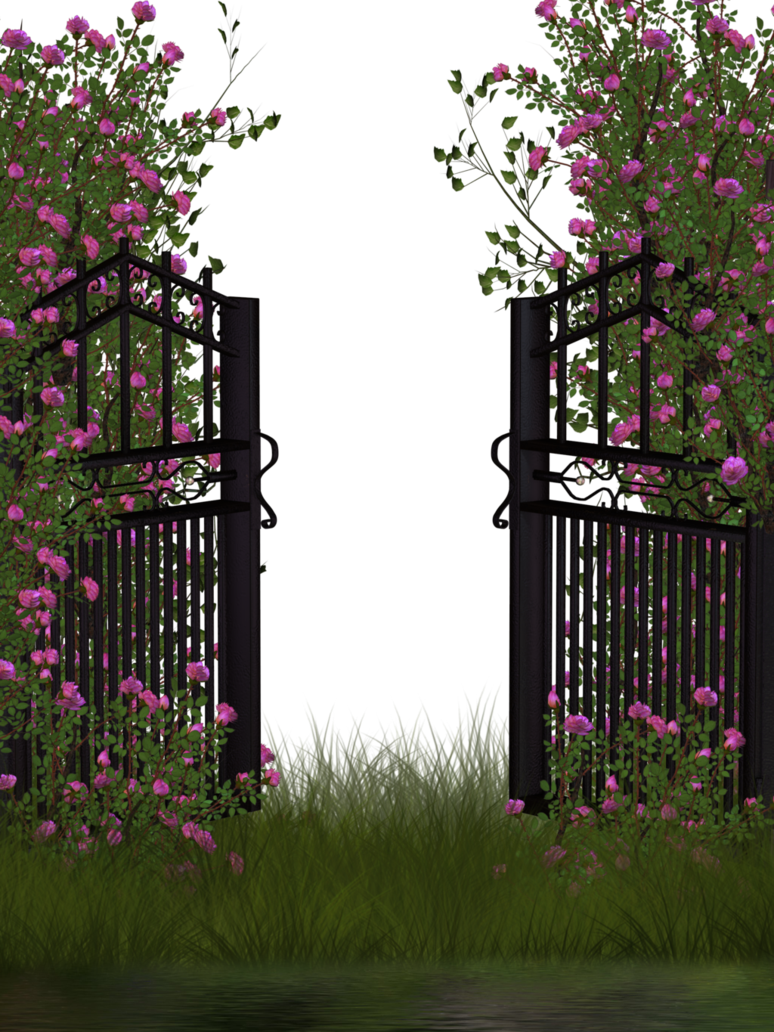 Garden background png. Entrance to rose by