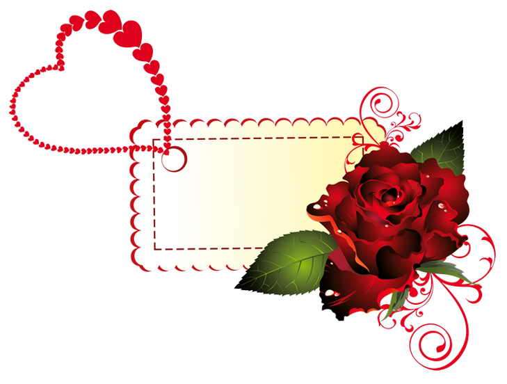 Garden clipart label. Valentine rose png picture