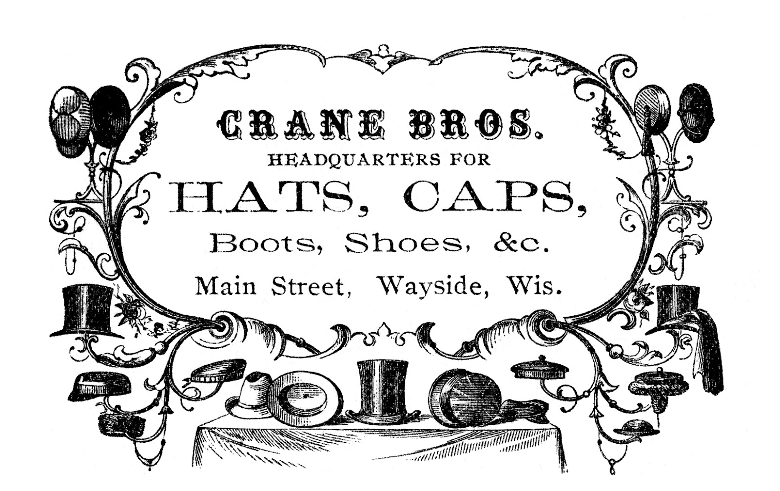 Vintage clip art victorian. Advertising clipart graphic free download