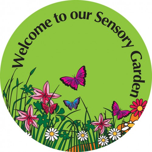 Garden clipart sensory garden. Lime circle signs cross