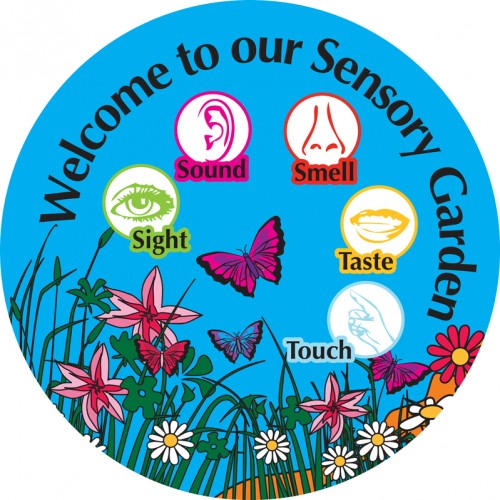 Garden clipart sensory garden. Senses circle signs cross