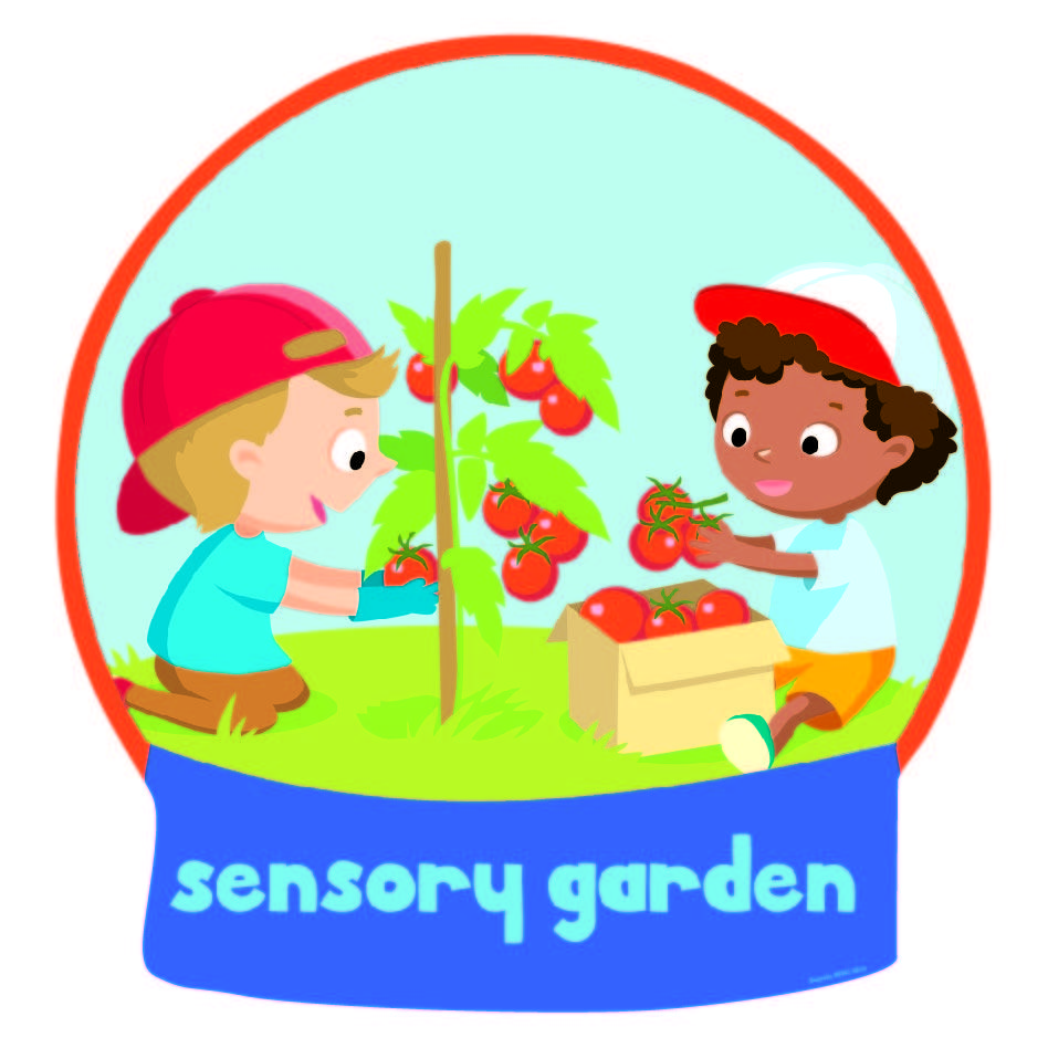 Garden clipart sensory garden. Zone sign
