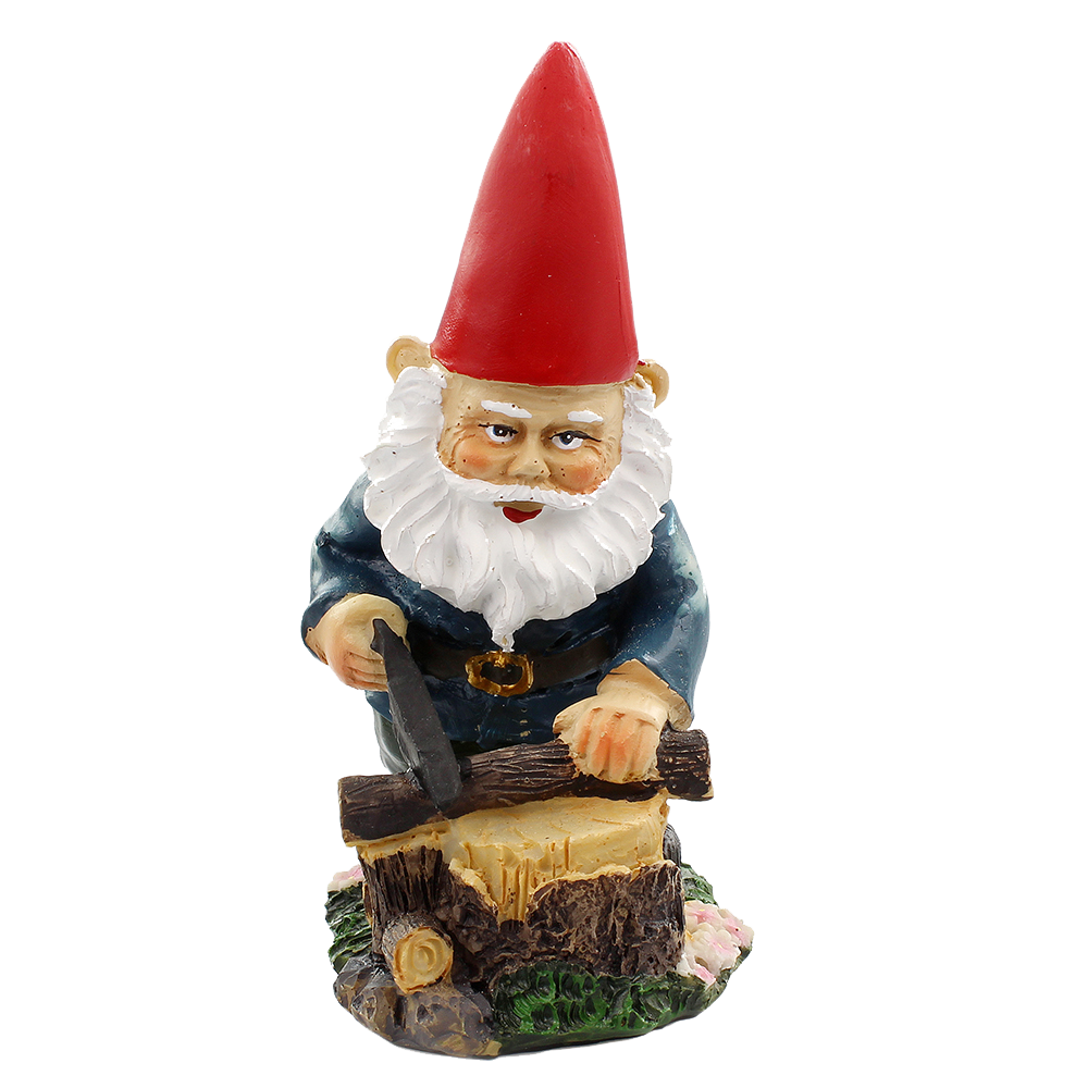 Garden gnome png. Fairy sawing logs nw
