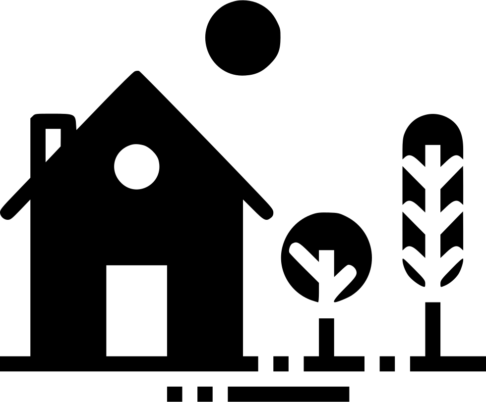 Garden svg icon. House home building place
