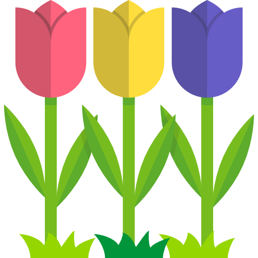 Garden svg. Tulips icon png