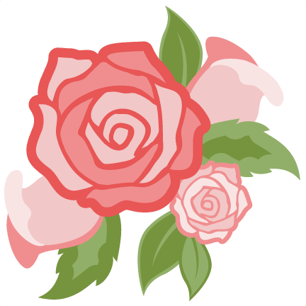 Svg silhouette rose. Flower group cut file