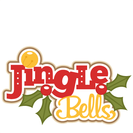 Jingle bells scrapbook title. Bell svg file clipart black and white
