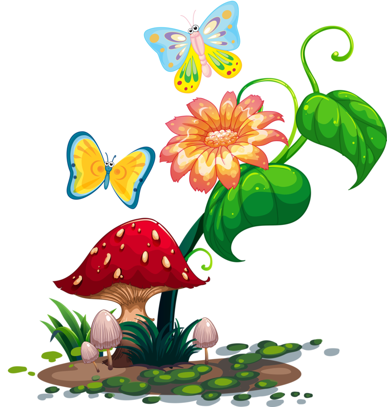 Garden vector png. Pinterest mushrooms clip