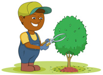Free gardening clip art. Gardener clipart picture library download