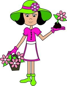 Image girl or woman. Gardener clipart clip freeuse library