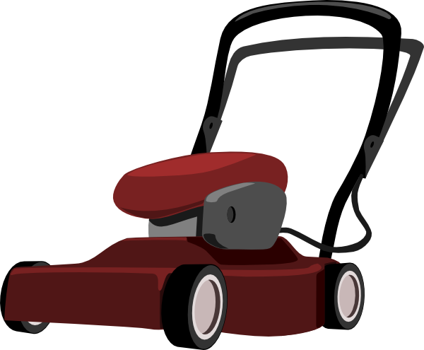 Lawnmower clipart. Lawn mower man gardener