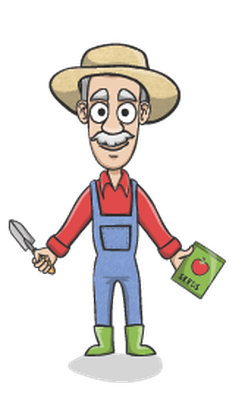 Gardener clipart transparent. Happy charactor set the