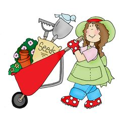 Lady clipart gardener. Garden equipments carden tool