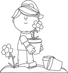 Gardening clipart home visitation. Clip art black and