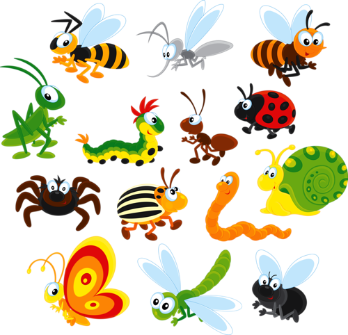 Vector insects kid. Print textures bugs