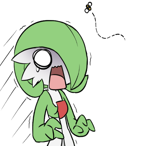 Gardevoir transparent. And the bee team